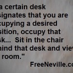 Do you do nothing or do you do something?  Free Neville Goddard
